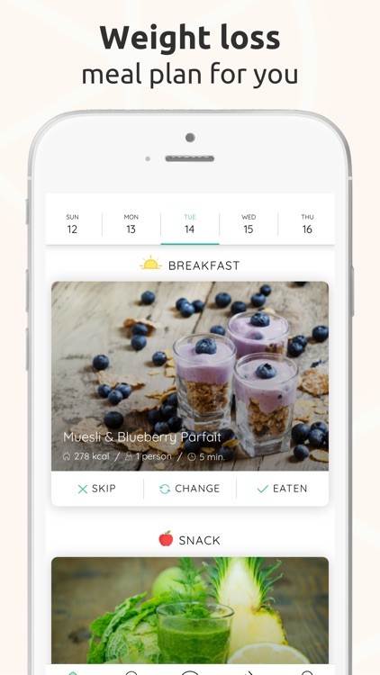Arono - Meals for weight loss screenshot-0