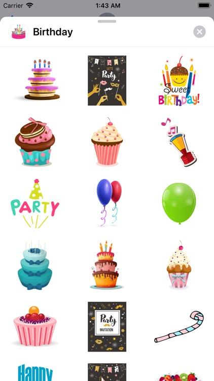200+ Happy Birthday Stickers screenshot-7