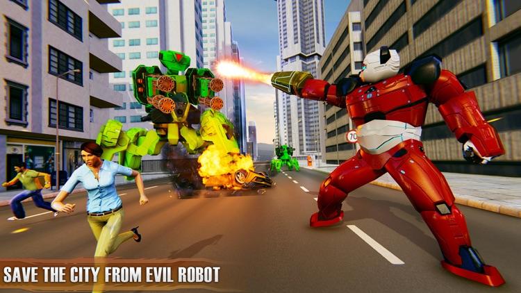 Flying Panda Robots War Battle screenshot-5