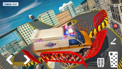 救急車 ルーフ ジャンピング ゲームのおすすめ画像2