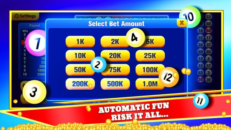 Keno Jackpot - Keno Games screenshot-3