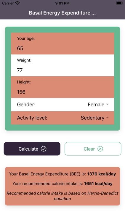BMR Calculator Pro