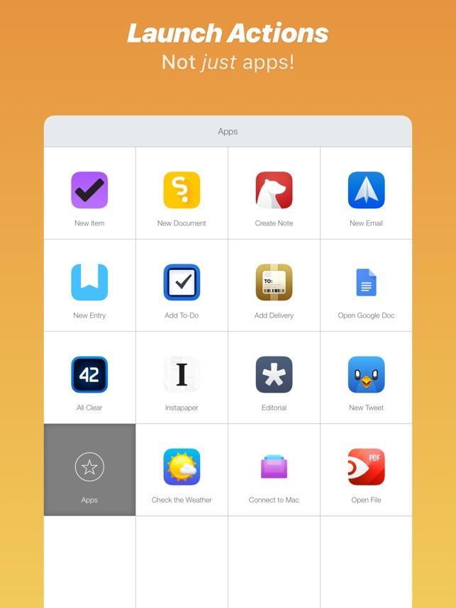 Launch Center Pro on the App Store