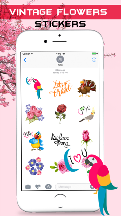 Vintage Watercolor Stickers screenshot three