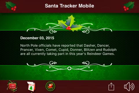 Santa Tracker Mobile - náhled