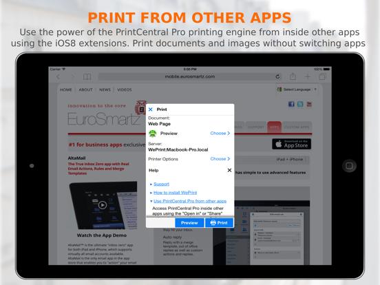 PrintCentral Pro Screenshots