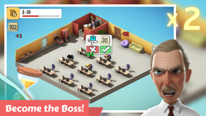 Angry Boss: Idle Office Tycoon Screenshot on iOS