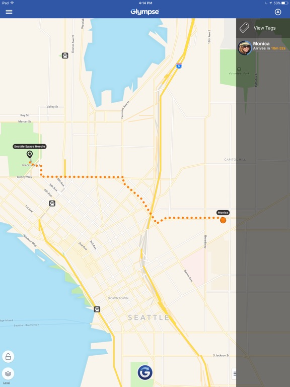 Glympse -Share GPS location with friends & family screenshot