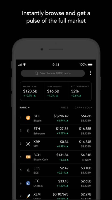 Blockfolio Bitcoin/Altcoin App screenshot