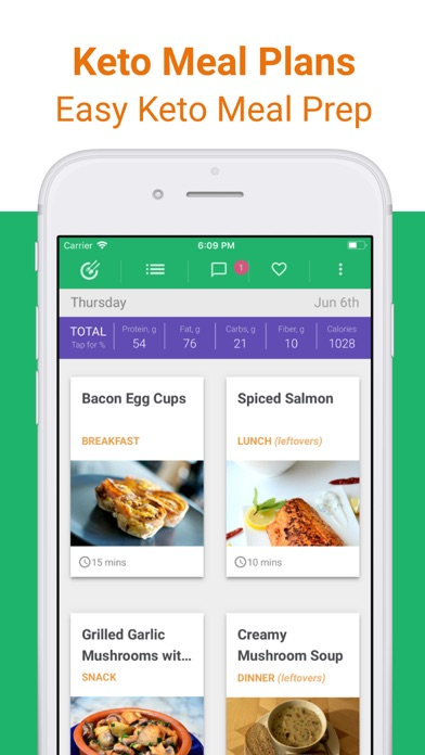 Keto Diet Meal Plan & Recipes Screenshot
