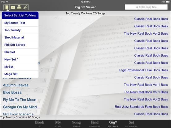 iGigBook Sheet Music Manager 6 by Black & White Software LLC