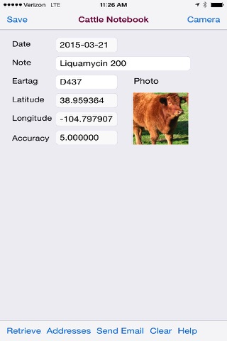 Cattle Notebook for iPhone - náhled