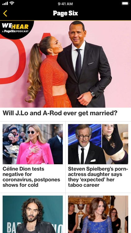 Page Six for iPhone