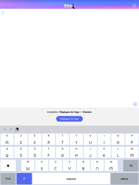 Text Designer Keyboard
