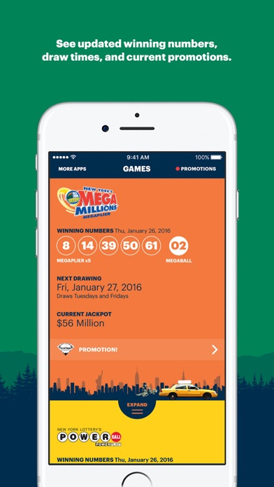 NY Lottery Screenshot on iOS