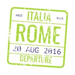 Passport Stamps World Sticker