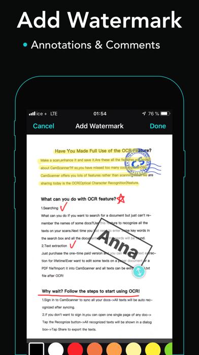 Screenshot of cam scanner+ PDF Scanner app9