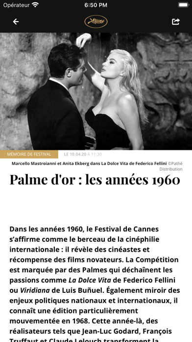 Festival de Cannes - Officiel iPhone