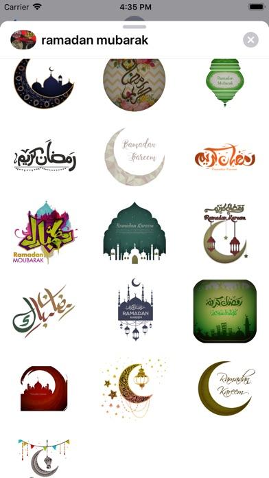 Ramadan Mubarak Stickers HD screenshot #2