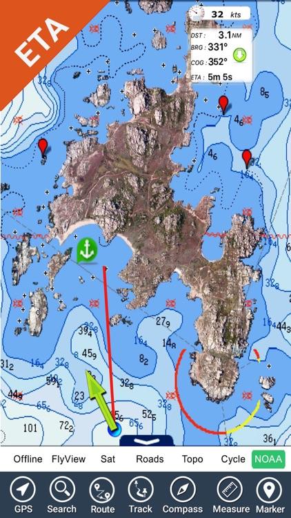 Chesapeake Bay HD - GPS Charts screenshot-4
