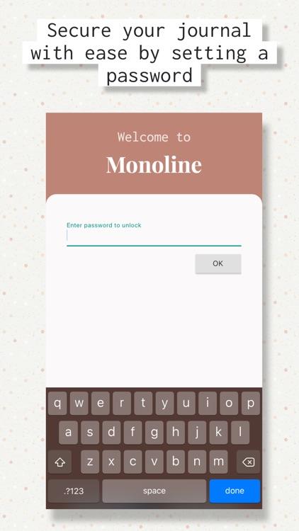 Monoline - Daily Diary Journal