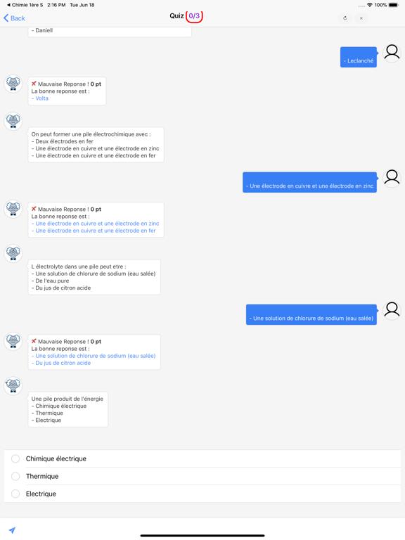 Chimie 1ère ES screenshot 9