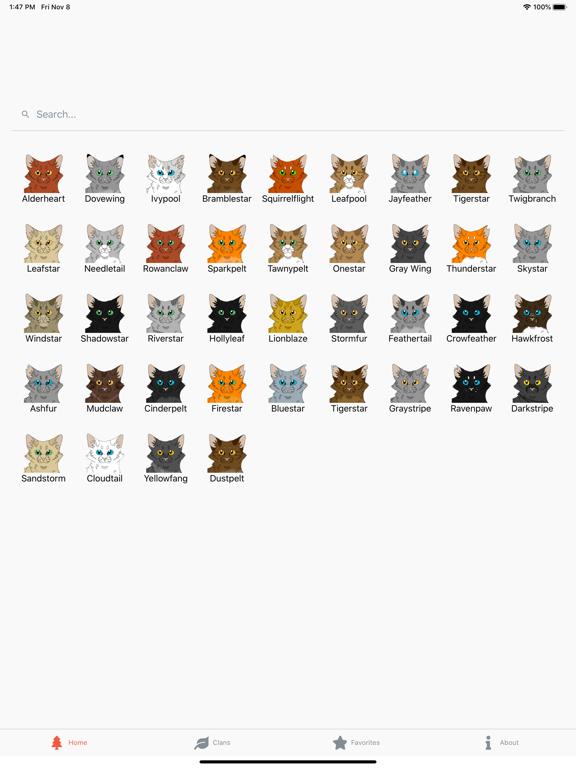 Warriors Characters screenshot 6