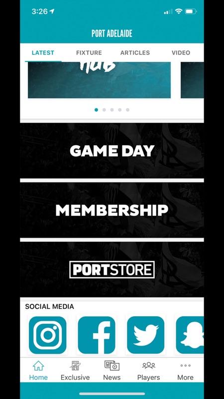 Port Adelaide Official App截图3