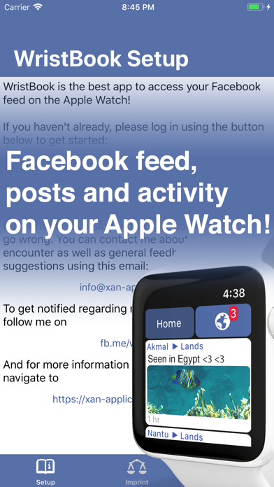 WristBook for Facebook app image