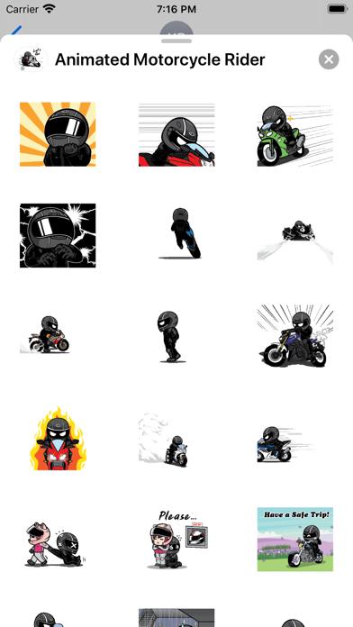 Animated Motorcycle Rider screenshot 2
