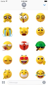 Animated New 3D Emoticon Emoji iphone images