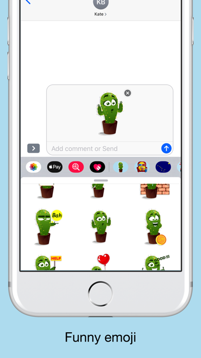 Cactus emoji - funny plants screenshot 3