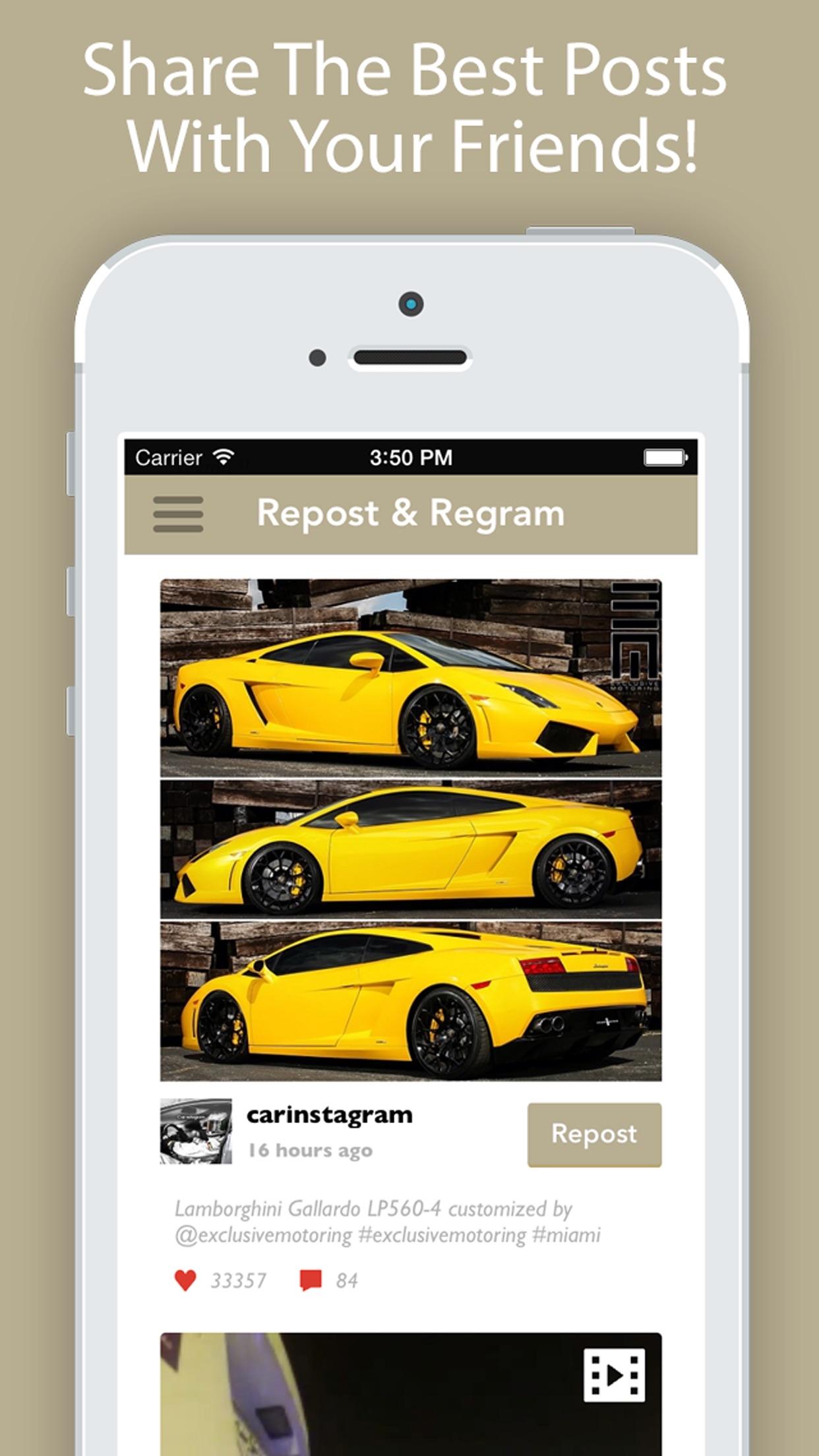 Screenshot do app Repost for Instagram'