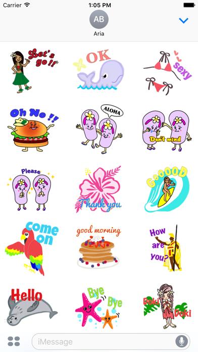 Hawaiian Life Icon Sticker screenshot 2