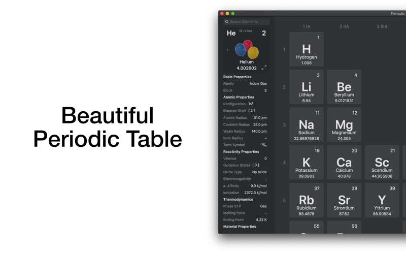 Periodic Table Chemistry 4 for Mac