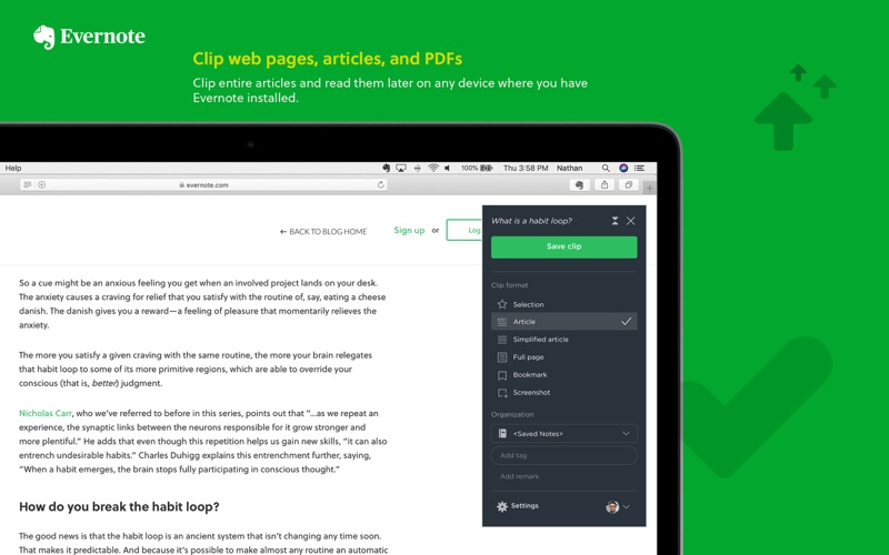 Evernote Web Clipper screenshot 2