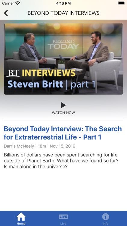 Beyond Today Television screenshot-4
