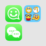 Stickers and Emoji for Facebook, WeChat and WhatsApp Pack II