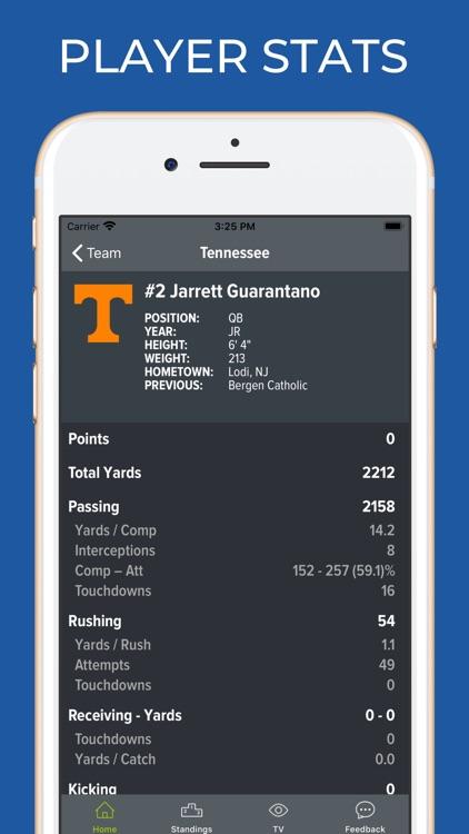 Tennessee Football Schedules screenshot-3