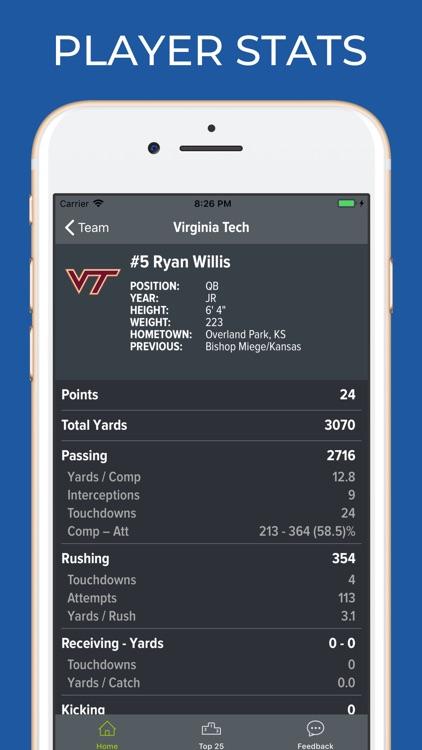 Virginia Tech Football screenshot-3