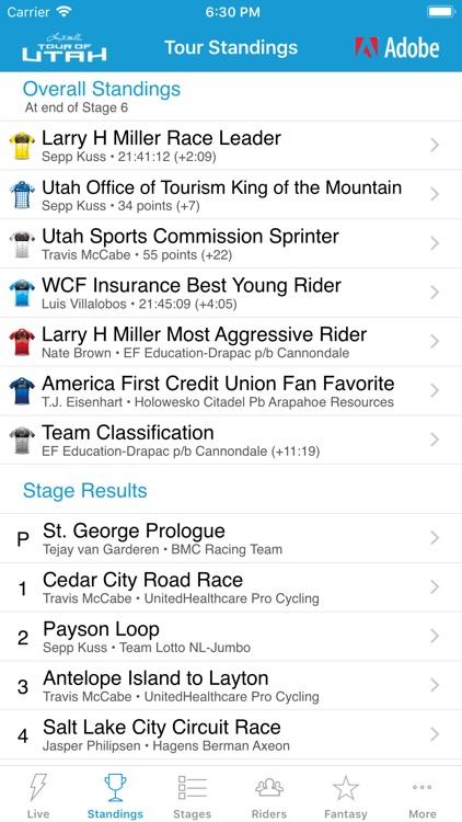 2019 Tour of Utah Tour Tracker screenshot-4