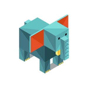 Animals Isometric Stickers