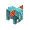 download Animals Isometric Stickers
