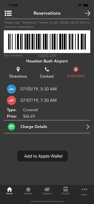 Preflight Airport Parking On The