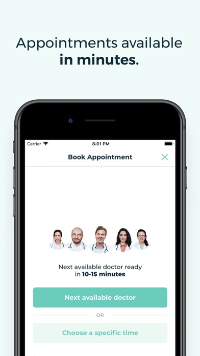 Screenshot for KRY – See a Doctor by Video in Denmark App Store