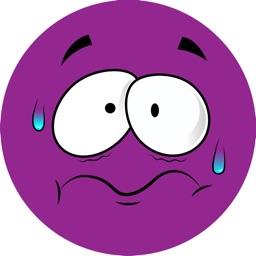 Purple Emojis - Stickers