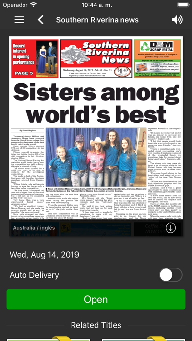 Southern Riverina NewsScreenshot of 1