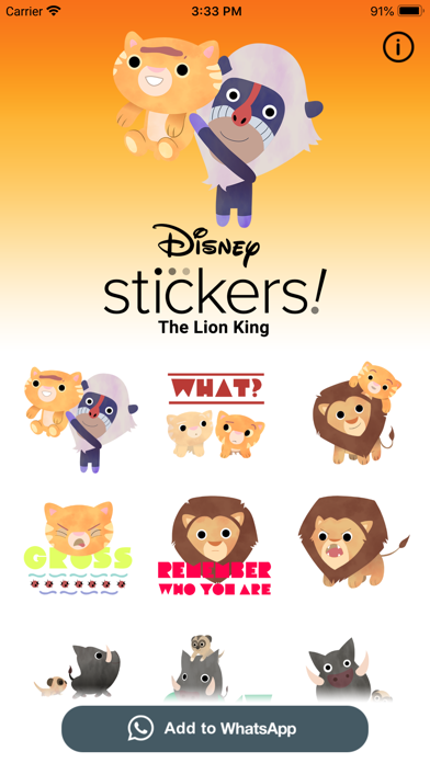 The Lion King Stickers screenshot 5