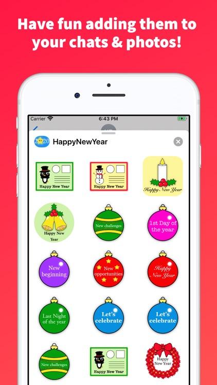 Happy New Year Emoji Stickers! screenshot-4