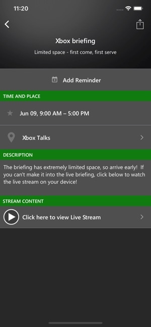 Xbox Events (Beta) Screenshot